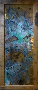 ][578 ossidazioni corrosioni su metallo 50 x 135cm cornice esclusa